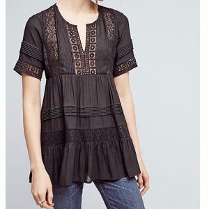 Anthropologie Tiered Lace Tunic